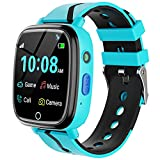 Kids Smart Watch for Boys Girls - Kids Smartwatch with Call 7 Games Music Player Camera SOS Alarm Clock Calculator 12/24 hr Touch Screen Children Wrist Watch for Kids Age 4-12 Birthday Gifts (Blue)