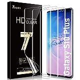 TAURI 3 Pack Samsung Galaxy S10 Plus TPU Protector de Pantalla (NO Vidrio) HD Screen Protector Anti-Oil y Anti-Huellas Doble Protección alineación Instalación fácil Sin Burbujas