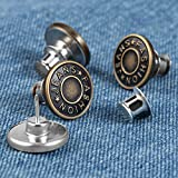 Upgrated Button Pins for Jeans Waists Pants Tightener Adjuster 4 Sets Instant Button Bottom Pins Clips on Replacement Adjustable Repair Kit for Women Men to Resize Reduce Tighten Jeans Waist Pants