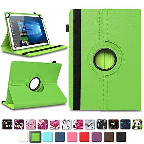 NAmobile Tablet Schutzhülle für Acepad A140 A121 A101 A96 Universal Tasche Kunst-Leder Hülle Standfunktion 360° Drehbar, Farben:Grün