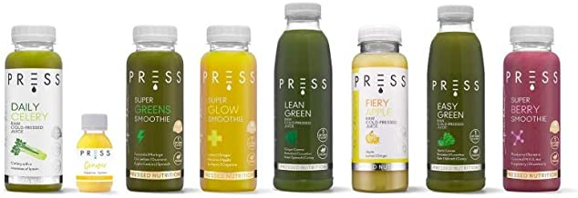 7 Days to Enlightenment Juice Cleanse- Meal Replacement for Weight Loss Diet- Celery Juice Green Apple Juice Smoothie Ginger Shot Low carb Fat Burners for Women and Men Estimated Price : £ 279,99