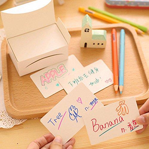 Bazaar 100 stuks witte bladwijzers, karton, knutselen, kaarten, huwelijk, cadeauhangers