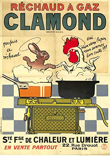 Carnet Blanc, Affiche Réchaud à gaz Clamond