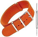 Bracelet en nylon pour montre NATO par Sniper Bay Bracelets style militaire pour...