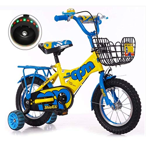 WZLJW Bicicletas 2-3-4-6 años de Bicicletas Niño Niña Bicicleta Plegable de Lquide Bicicleta de los niños con el Entrenamiento del Flash de la Rueda YCLIN ggsm (Color : 14in 2)