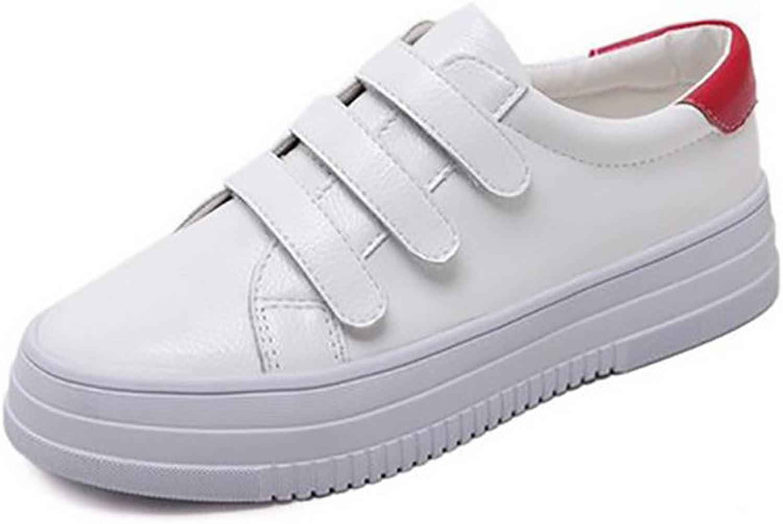 Ladola Womens Cushioning Hook-And-Loop Round-Toe Urethane Walking shoes