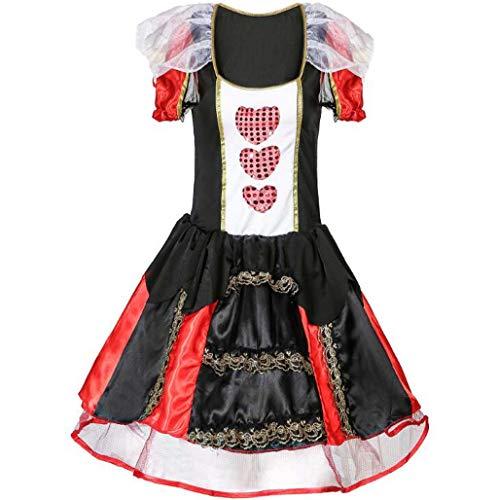 MSSugar Cosplay Kostüm Party Kostüm Erwachsene Damen Weihnachten Halloween Karneval Festival Königin der Herzen der Königin der Herzen,XXL