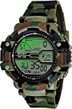 ATRI Indian Digital Army Shockproof Waterproof with Lighting Dial in Display Day and Date with Rubber Strap Digital Men's Watch (Green)