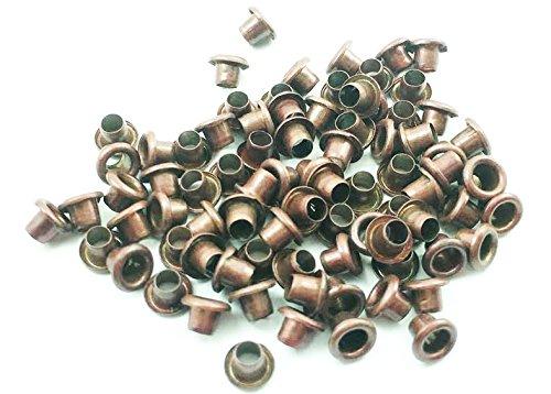 100pcs 3mm (1/8') Hole Copper Metal Eyelets Scrapbooking Studs Nailheads Decoration - E083