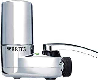 Brita - 10060258356189 Tap Water Filter System, Water Faucet Filtration System with Filter Change Reminder, Reduces Lead, BPA Free, Fits Standard Faucets Only - Chrome