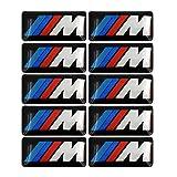 10 Stück M Badge Tir Farbe Heck Embleme Kotflügel Seite Embleme für BMW – 3D Aufkleber Namensschild Auto Logo Aufkleber passend für alle BMW Original M Badge Alufelgen Aufkleber Emblem