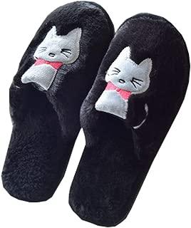 [QIFENGDIANZI] ルームシューズ スリッパ レディース メンズ 猫柄 もこもこ おしゃれ 洗える あったか 滑り止め 男女兼用 春秋冬 防寒 抗菌 防音 脱ぎ履きやすい 冷え対策 北欧 冬小物 室内履き 来客用