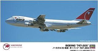 ハセガワ 1/200 ノースウェスト航空 ボーイング747-200 プラモデル 10840