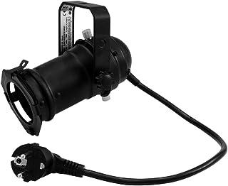 EUROLITE PAR-16 Spot GU-10 zwart | PAR-16-behuizing met GU-10-fitting (met stekker + kabel)