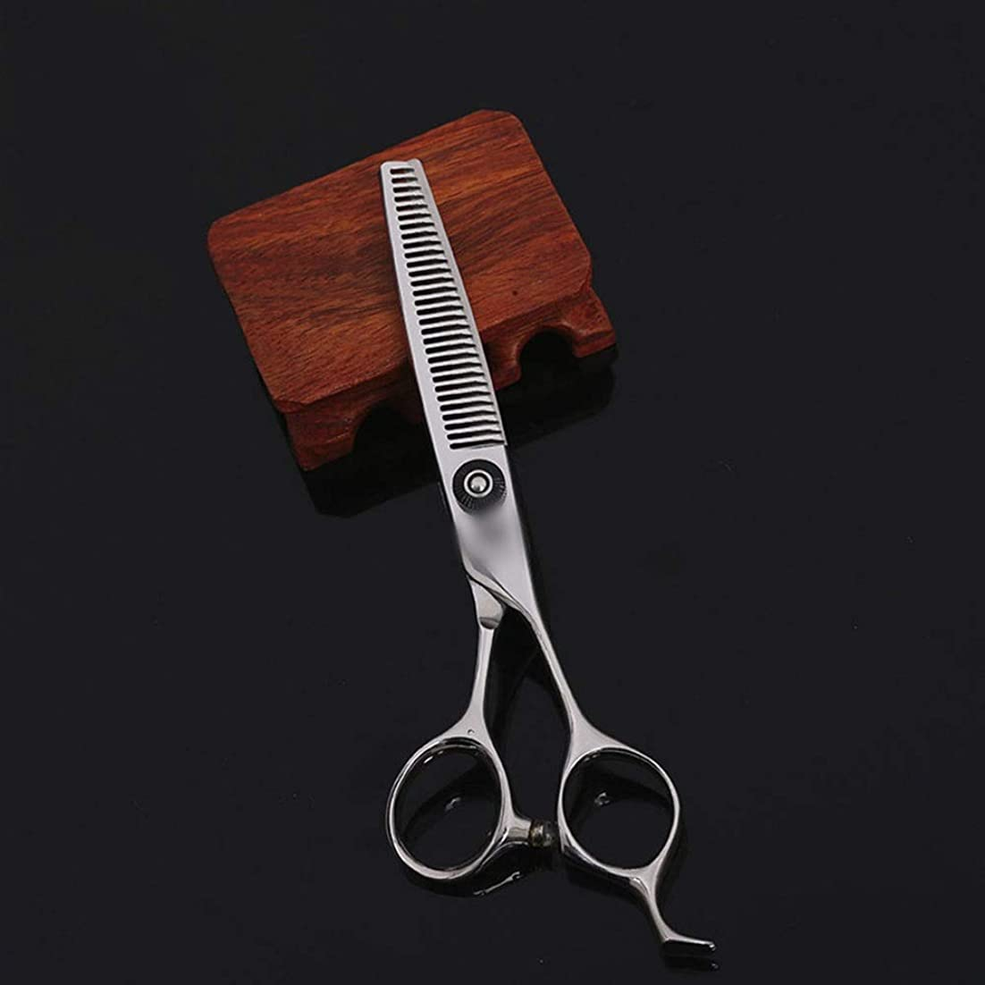 時間干し草記述するZYDP 6インチトゥースカット理髪師特別ハイエンドプロフェッショナルステンレススチール理髪はさみ (色 : Silver)