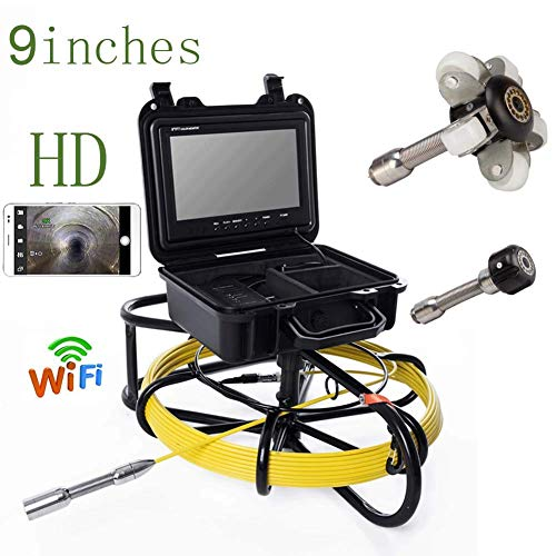Purchase Mieg 9 inch WiFi 23mm Iron Frame Industrial Pipe Sewer Detection Camera IP68 Waterproof Dra...
