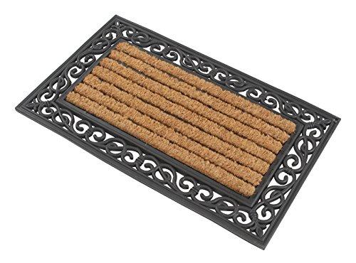 Kai Wiechmann Premium Fußmatte aus Gummi & Kokosfasern eckig 76 x 46 cm robust & dekorativ
