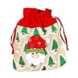 HEVÜY Weihnachten Theme Geschenkbeutel mit Kordelzug Weihnachtsmann Süßigkeitensack Geschenk...