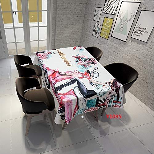 VitaLity Saubere rechteckige rechteckige Jacquard-Tischdecke,staubdichtes Tuch für Schuhschrank und Couchtischabdeckung,Weihnachtsdekorationstischdecke 140X240cm