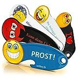 Code24 Einkaufswagenlöser, 5 x Schlüsselanhänger mit Einkaufschip & Schlüsselfinder, inkl. Registriercode für Schlüsselfundservice, multifunktionale Einkaufswagenchips, Key-Finder, Set
