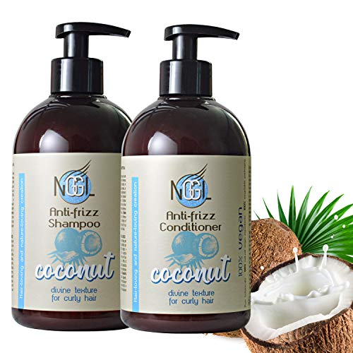 NGGL - Pack de champú y acondicionador veganos con aceite de coco...