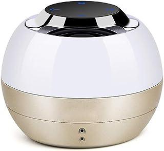 TIANYOU Mini Altavoces Bluetooth Portátil Led Altavoz Bluetooth Calidad de sonido sin pérdida/Gold