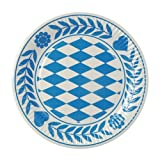 Papstar 11177-100 Piatti di Carta tondi, Diametro: 23 cm, Colore: Blu Bavarese