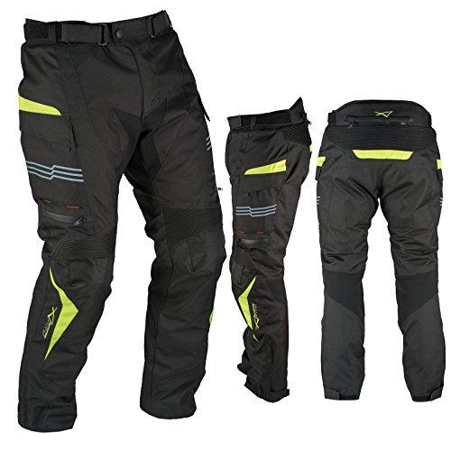 A-Pro Pantaloni Impermeabile Moto Termica Estraibile Strisce Riflettenti Fluo 36