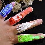 10x LED Fingerlampe Mitbringsel Fingerring Leuchtringe Fingerlichter Ring für Finger Mitgebsel...