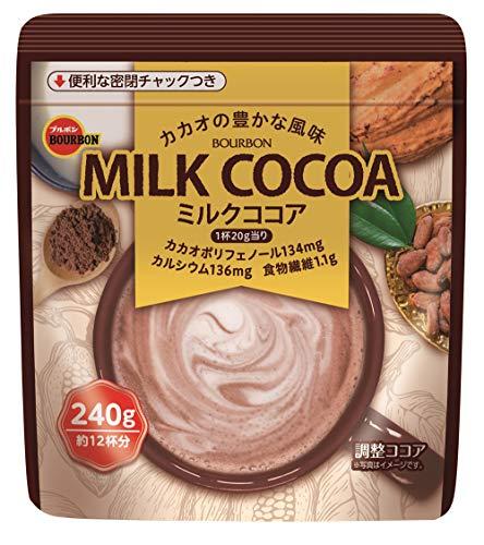 〔 北海道 沖縄県を除く〕 ブルボン ミルクココア 240g 12袋×2 まとめ買い