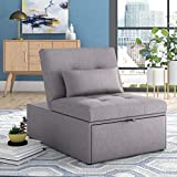 Aaronsburg 31'' Wide Tufted Convertible Chair, Seat Depth: Extra Deep (Over 35'), Seat Height (Inches): 18