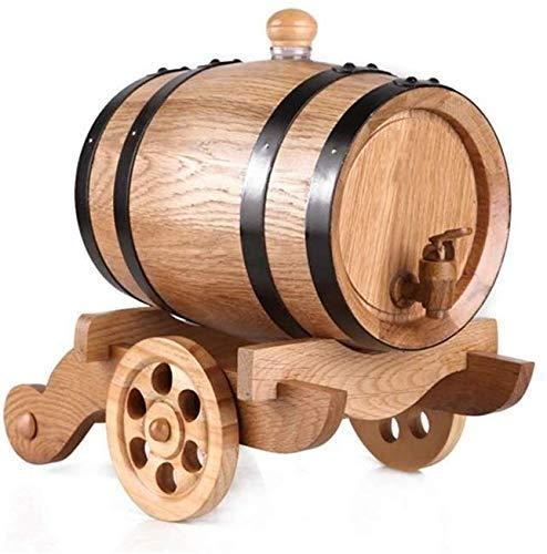JFZCBXD Weinfass ZuhauseBrew Druck Fass Whisky Lagerung Barrel für Bier Whisky Rum Hafen Keg (No Liner), 1.5L
