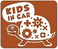 imoninn KIDS in car ステッカー 【マグネットタイプ】 No.53 カメさん (茶色)
