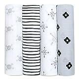 Aden + anais maxi-langes, 100% mousseline de coton, 120cm x 120cm, pack de 4, Lovestruck