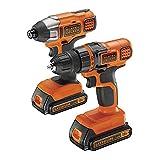 Black & Decker BDCDDIM18B drill Senza chiave Nero, Arancione