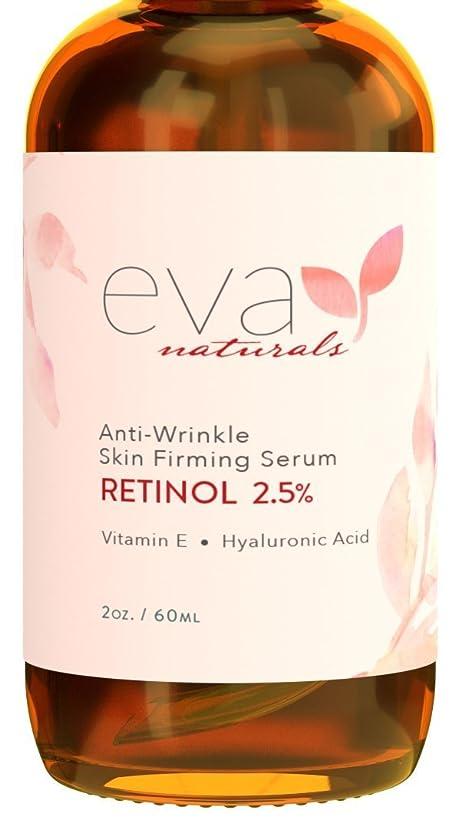 へこみ荷物簡単なEva Naturals Retinol Serum 2.5% 2 oz, Double-Sized Bottle