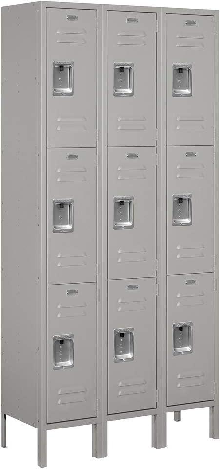 Salsbury Industries Assembled 3-Tier Max 87% OFF with Metal Standard Locker Max 55% OFF