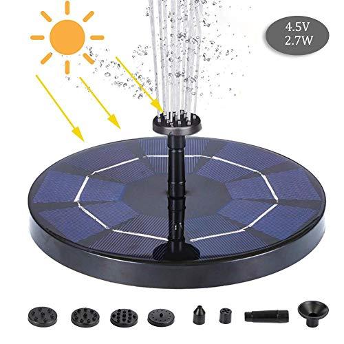 2.5W buiten zonne-fontein pomp, draagbare intelligente ronde zonne-energie drijvende fontein waterpomp innovatief landschap voor tuin achtertuin