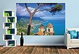 Premium Foto-Tapete Amalfiküste (verschiedene Größen) (Size M | 279 x 186 cm) Design-Tapete, Vlies-Tapete, Wand-Tapete, Wand-Dekoration, Photo-Tapete, Markenqualität von ERFURT