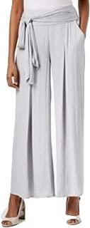 Alfani Wide-Leg Tie-Waist Pants City Silver Size Small