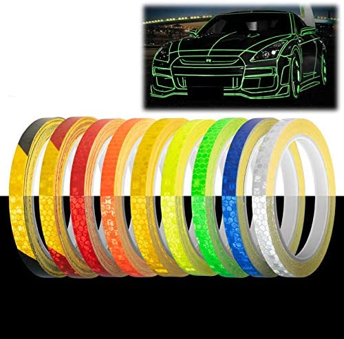 Orange Reflective Tape Safety Self Adhesive Striping Sticker Decal 26FT Roll 1CM product image