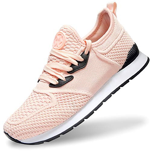 Gaatpot Mujeres Zapatillas para Correr Deportivo Fitness Sneakers Ligero Outdoor Calzado Transpirables Casual Zapatos Running Shoes Naranja 37EU=38CN