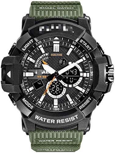 JDHFKS Relojes for Hombre Reloj de Cuarzo Impermeable de los Hombres de Moda Casual for Hombre del Deporte Naranja Reloj Digital 21cm
