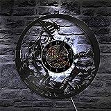 Jiedoud Vinyl Wanduhr Skala Der Gerechtigkeit Und Hammer Wandkunst Gesetz Barrister Clock Anwaltskanzlei Vinyl Record Wanduhr Gerichtssaal Uhr Geschenk Für AnwaltMit Led