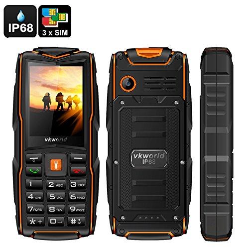 VKWORLD STONE V3 TELEFONO CELLULARE RESISTENTE ROBUSTO RUGGED DUAL SIM ANTIURTO POWER BANK 5200MAH IMPERMEABILE IP67 WATERPROOF RESISTENE ACQUA CORAZZATO DA LAVORO CANTIERE SPORT ESTREMI
