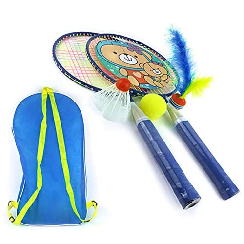 Giocattoli da Badminton per Bambini Shuttlecock Racquet con Badminton Ball Bag Carrying Borsa Indoor Outdoor Team Gioca Giochi Giocattoli Racchetta per Badminton per Bambini per Interni ed Esterni