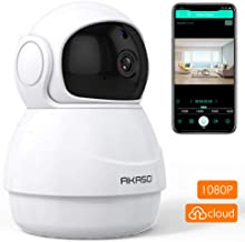 AKASO WiFi Security Camera IP Camera, 1080P HD Wireless Home Surveillance Baby/Pets Monitor with Two-Way Audio,Phone APP Remote Access,Pan/Tilt,Motion Detect,Panoramic Navigation,3D Positioning (P20)
