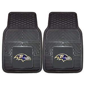 "FANMATS - 8755 NFL Baltimore Ravens Vinyl Heavy Duty Car Mat,Black,18""x27"""