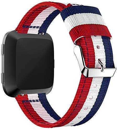 Gransho Reloj Bandas Compatible con Fitbit Versa 2 / Versa 2 SE/Versa Lite/Versa smartwatch – elección de Color, Longitud y Anchura – Correas de Nailon (Pattern 2)