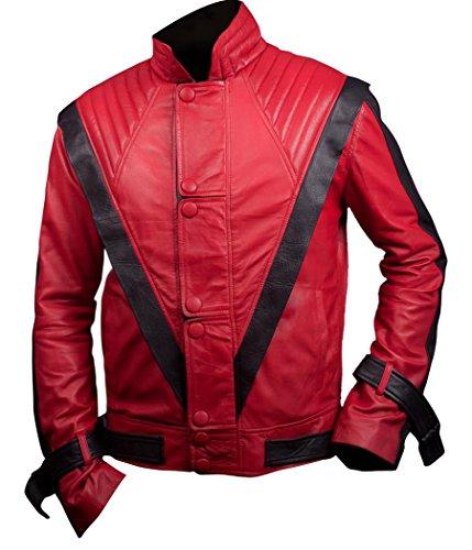 F&H Kinder Michael Jackson Thriller Jacke - Rot - Large
